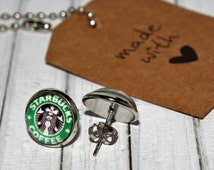 Unique Starbucks Earrings Related Items Etsy