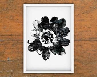 "Flower, Painterly, Modern, Printable Art, Digital Print, Poster Size, 16"" x 20"", Wall Art"