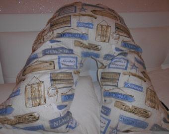 V-SHAPED Pillow/Cushion Cover in Prestigious Fabric
