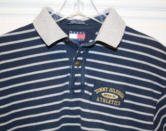 Tommy Hilfiger  Short Sleeve Polo shirt Blue/Grey Large