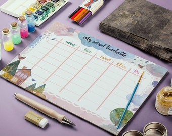 Children Planner, Kids Timetable, Back To School, Daily School Planner, My School Timetable, Weekly Planner, Daily Schedule, Student Planner