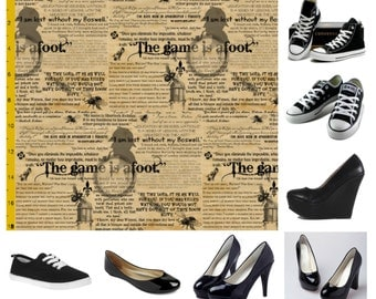 The game is afoot custom shoes
