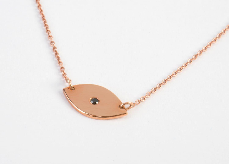 evil eye necklace diamond evil eye necklace solid gold. Black Bedroom Furniture Sets. Home Design Ideas