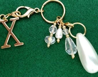 Drop Pearl Key Chain, Purse Charm