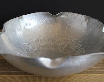 Vintage Hand Forged Aluminum Bowl Large
