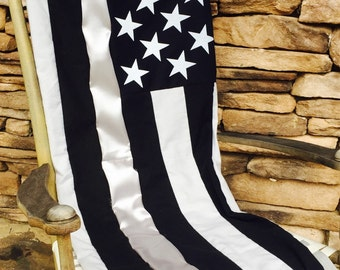 Thin Silver Line - Thin Silver Line Quilt - Correctional Officers Gift - Prison Guard Gift - Corrections Officer Gift - Warden Gift - Quilt