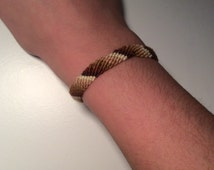 Brown ombré Candy stripe friendship bracelet