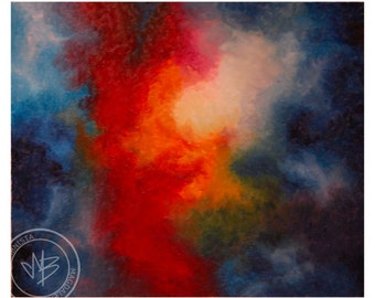 Nebula (Space VI) - original oil painting on the canvas.