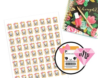 Printable Kawaii Happy Mailer Package planner stickers for ECLP MAMBI Filofax