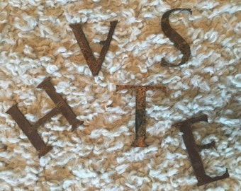 Rustic Hand-Cut Metal Letters