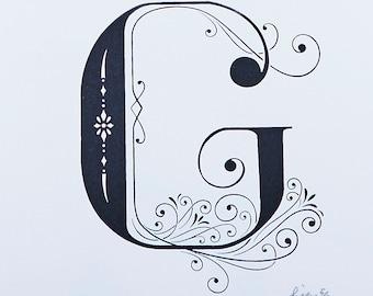 Letter G - Limited Silkscreen Art Print