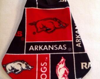 Arkansas Razorback, Dog Sweater, Dog Clothes, Double Fleece Dog Coat, Pet Attire,Ready to Ship