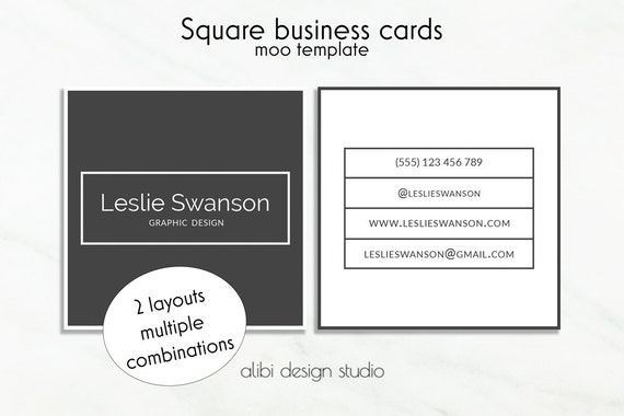 items similar to square business card design square business cards template moo template. Black Bedroom Furniture Sets. Home Design Ideas