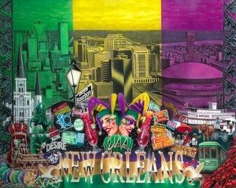 New Orleans Mardi Gras Poster
