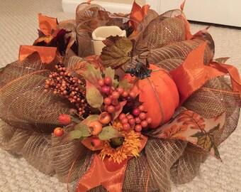 Autumn Pumpkin Centerpiece