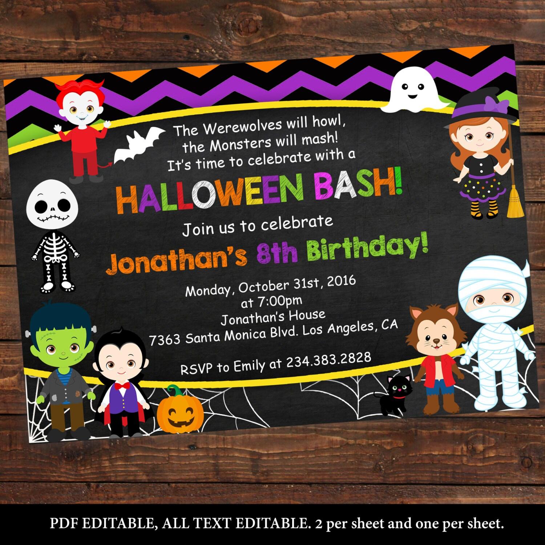 Halloween kids party printables Halloween birthday