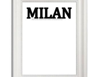 Milan, Milan Prints, Milan Art, Milan Artwork, Milan Wall Art, Milan Printables, Milan Printable Art, City Prints, City Artwork, City Art