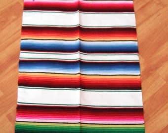 Great Mexican Blanket Sarape Sarepe Manta Cobija Several Colors Available 210 cms x 150 cms