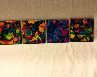 Hand painted drink coasters