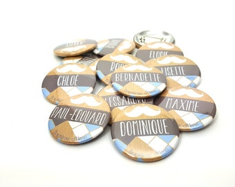 Badges marriage 37 mm mark place or table plan