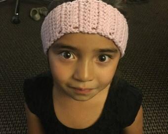 Crochet Lilac Headband