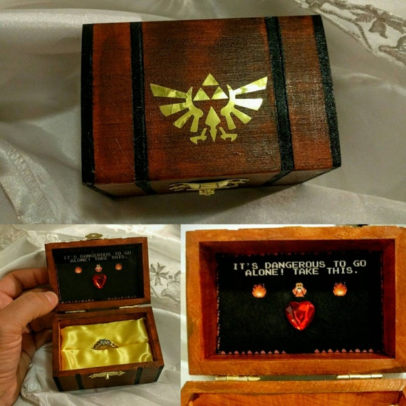 Nintendo Inspired Zelda Engagement Ring Box W/ Quote Inside