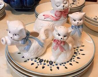 Vintage Ceramic Kitty Set