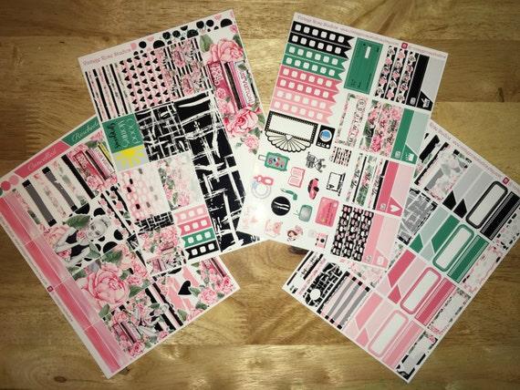 Blake Vertical Weekly Mini Kit Planner Stickers for Erin Condren LifePlanners