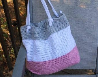 Harlequin Beach Bag Crochet Pattern