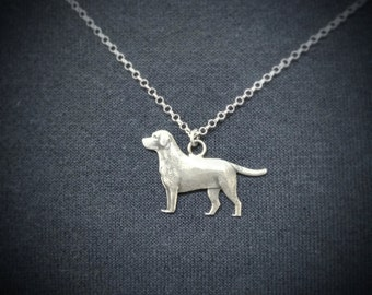 Labrador Necklace, Labrador Dog Gifts, Labrador Dog Jewelry, Labrador Jewelry, Labrador Dog Art, Dog Necklace, Silver Dog Neacklace