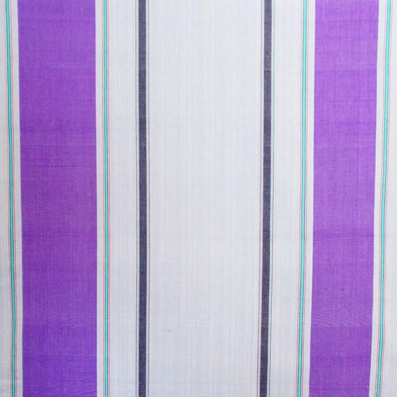Gypsy Stripe Turquoise Grey Woven Cotton Rug: ON SALE Grey Purple Stripe Cotton Fabric By 1/4 Metre
