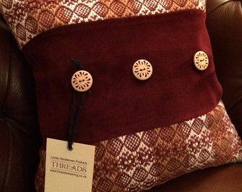 handmade handwoven cushion