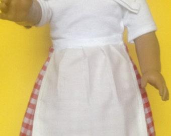 """Little Prairie Girls cute clothes for 18"""" dolls/Prairie costume bonnet,skirt, apron and shirt/Little House on the Prairie"""