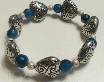 Item #002 Silver Heart Love Bracelet