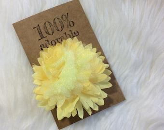 Yellow Flower Hair Clip, Yellow Flower Clip, Yellow Flower, Flower Hair Clip