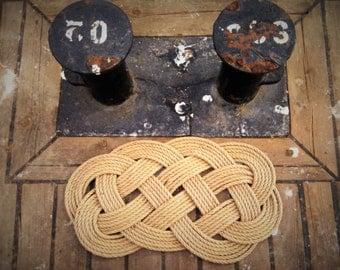 21x11 Handmade Jude Rope Rug Doormat Nautical Knotted Mat