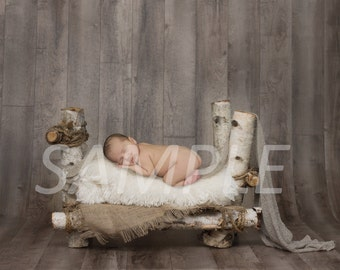 Newborn Birch Log Bed Backdrop