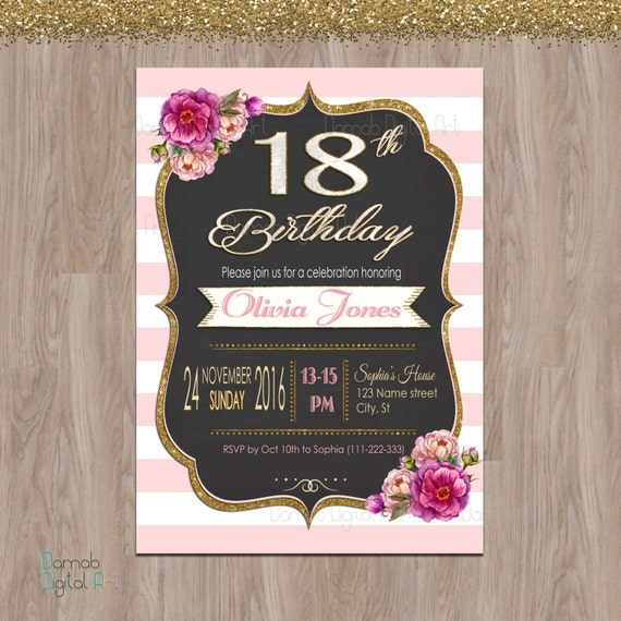 18th birthday invitations 18th birthday party invitations – Invitations 18th Birthday