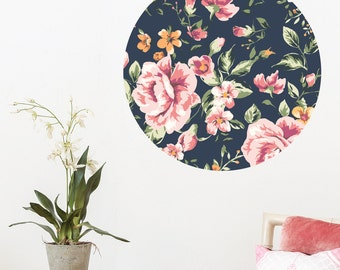 Pink Roses Dot Wall Decal
