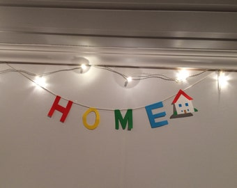 HOME letter garland