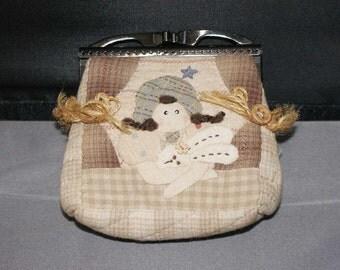 Cute girl  patchwork straight frame Bag