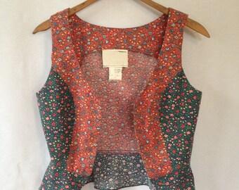 1970s flower print vest size 7
