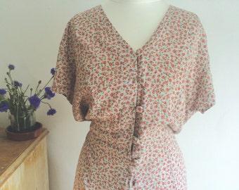 Pretty Ditsy Floral Print Summer Dress