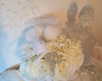 Divine Wedding Bouquet Diamanté Special Day Celebration