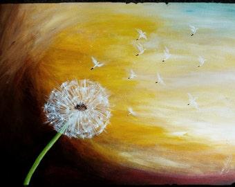 Dandelion Birds- Fine Art Prints