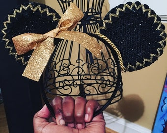 Black and Gold Mouse Ears