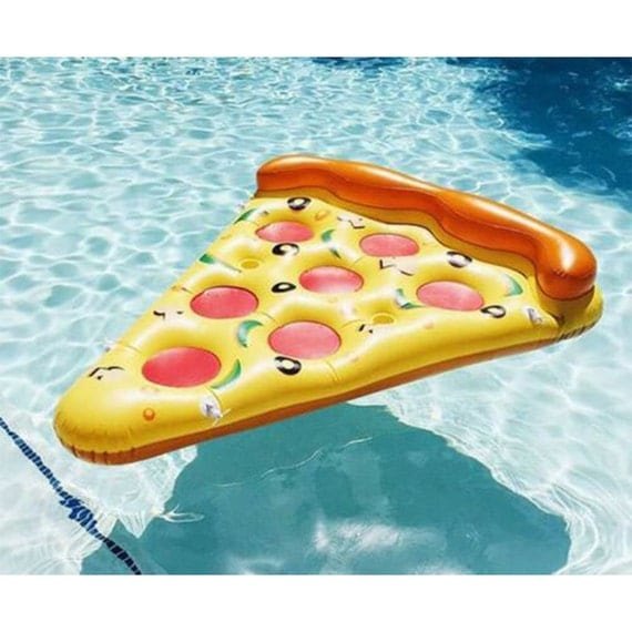 New Pool Pizza Slice Ride On Swimming Fun Water Sports Lounger Inflatable Float Toy Home Garden