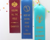Party Pack - Set of 3 Adult Award Ribbons