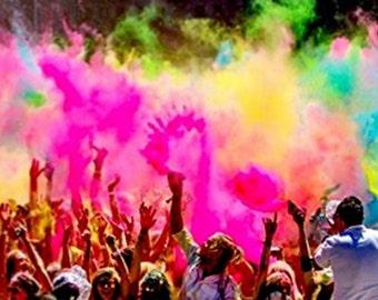 Colormarathon® Premium Quality Holi Color Powder - 6 Colors X 1.5 Lb Each, Total 9 Lbs