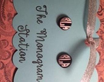 Custom Monogram Earrings - Personalized Earrings - Monogram Earrings - Initial Earrings - Custom Earrings - Personalized Jewelry